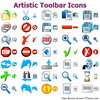 Artistic Toolbar Icons Image
