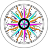 Colorful Compass Rose Clip Art
