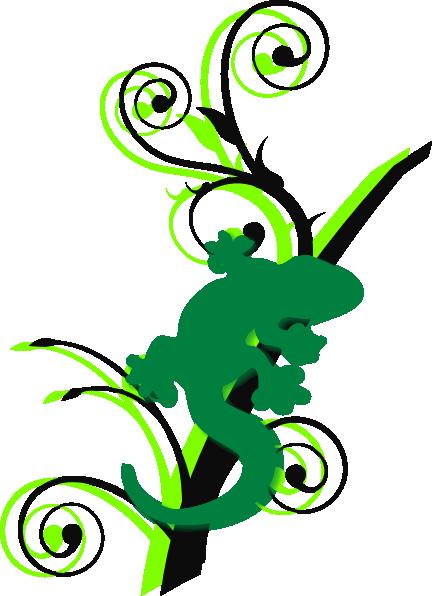 Green Gecko Brances Clip Art At Clker Com Vector Clip
