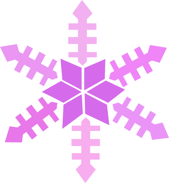 Purple Snowflake Clip Art at Clker.com - vector clip art ...