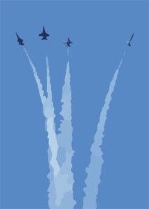 The Blue Angels Perform During The Miramar Air Show. Clip Art