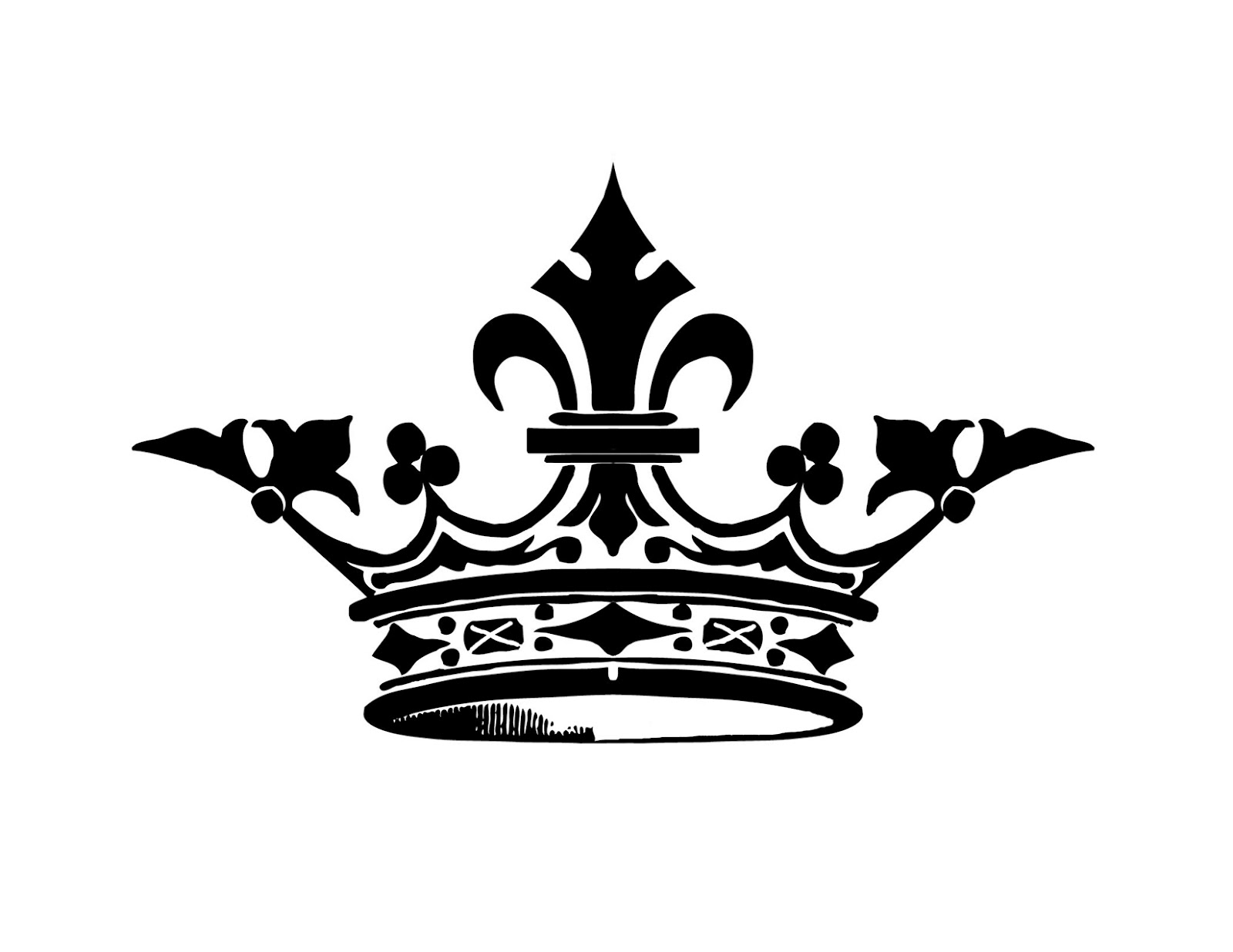 Crown Silhouette Graphicsfairysm   Free Images at Clker ...