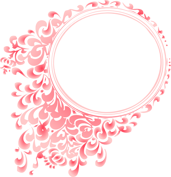 Clipart Pink Radial Gradient Circle Border on Green Circle Frame