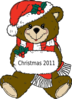 Christmas Teddy Bear Clip Art