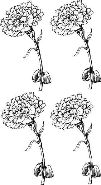 Carnation Pattern Clip Art at Clker.com - vector clip art ...