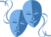 Blue Theatre Masks Clip Art