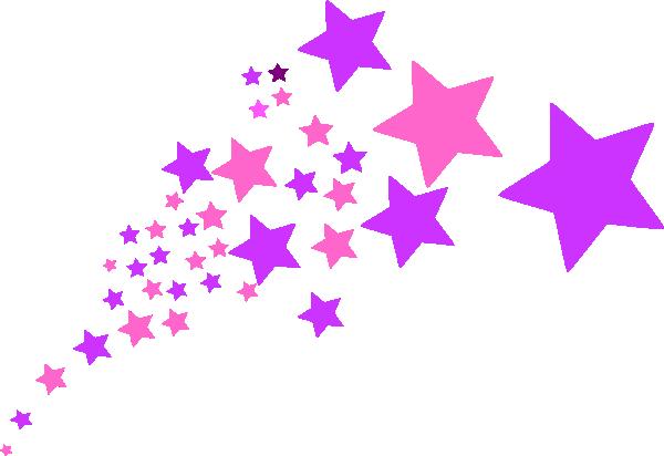 Purple and pink stars