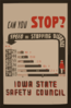 Can You Stop? - Speed And Stopping Distance - Iowa State Safety Council  / Designed & Produced By Iowa Art Program. Clip Art