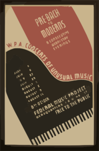 W.p.a. Concerts Of Unusual Music Pre-bach To Moderns : 8 Consecutive Wednesday Evenings. Clip Art