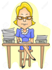 Teacher Grading Papers Clipart Image