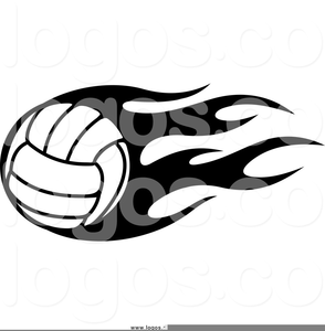 Flaming Volleyball Free Clipart Image