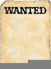 Blank Wanted Poster Clipart Image