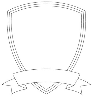 Shield template free images at vector clip for Blank shield template printable
