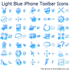 Light Blue Iphone Toolbar Icons Image