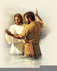 John The Baptist Baptizing Jesus Clipart Image