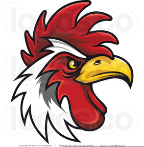 Clipart Of Roosters Crowing Image