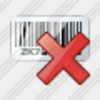 Icon Bar Code Delete Image