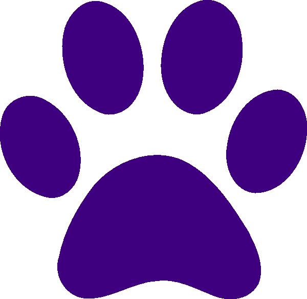 Purple Paw Print Clip Art At Clker Com Vector Clip Art