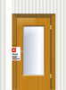 Door With Lock Box Clip Art