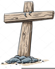 Old Wooden Cross Clipart Image
