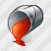 Icon Paint Bucket Red 1 Image