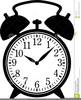 Clock Black And White Clipart Image