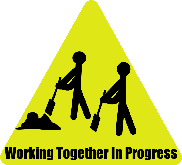 working together in progress clip art at clkercom