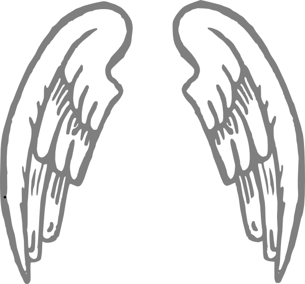 Silver Wings Clip Art at Clker