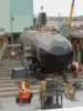 The Navy S Newest And Most Advanced Submarine, Pre-commissioning Unit (pcu) Virginia (ssn 774) Moved Out Doors For The First Time In Preparation For Her Aug. 16 Christening Clip Art