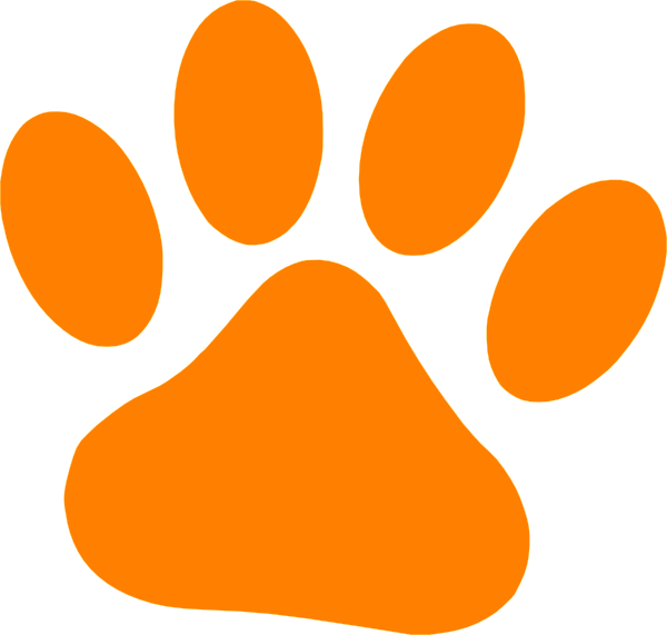 orange paw clip art at clker com vector clip art online dog and cat clip art images dog and cat clip art images