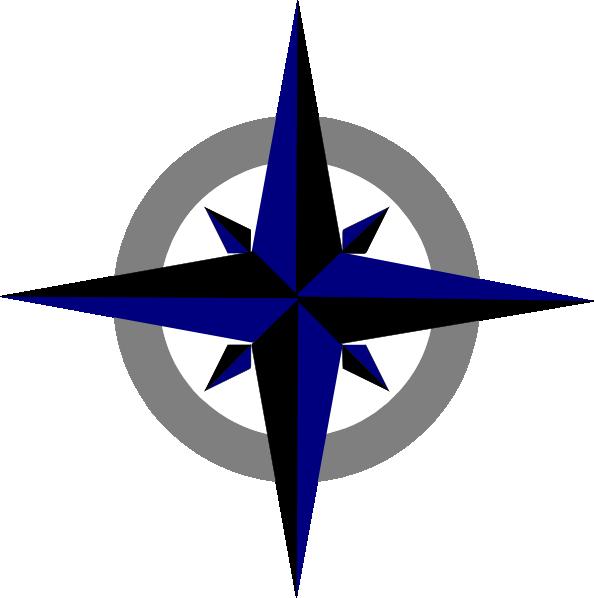Bluegrey Compass Rose Clip Art At Clker.com