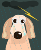 Dog In Storm Clip Art