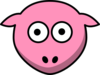 Sheep Pink Looking Straight Clip Art