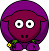 Sheep Purples Two Toned Looking Straight Clip Art