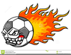 Flaming Soccer Ball Clipart Free Image