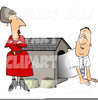 Man In Doghouse Clipart Image