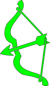 Green Bow N Arrow Clip Art