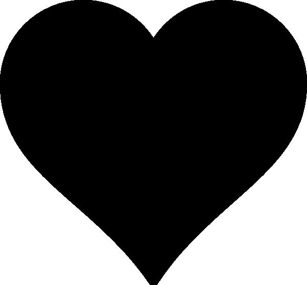 black heart clip art at clkercom vector clip art online