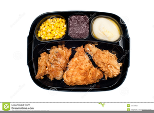 Free Clipart Fried Chicken Dinner Image