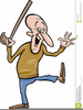 Free Clipart Old Man With Cane Image