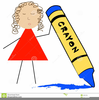 Animated Crayon Clipart Image