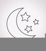 Clipart Free Moon Star Image