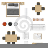 Furniture Clipart Top View Image