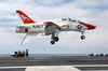 A T-45c Goshawk Comes In For A Land On The Flight Deck Aboard Uss John C. Stennis (cvn 74). Image
