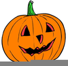 Carved Pumpkin Clipart Image