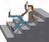 Man Slipping Clipart Image