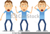 Person Getting Shocked Clipart Image