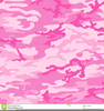 Pink Camo Pattern Clipart Image