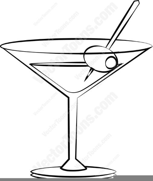 Clipart Martini Glass With Olive Free Images At Clkercom Vector