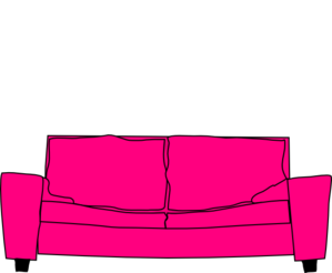 Hot Pink Couch Clip Art
